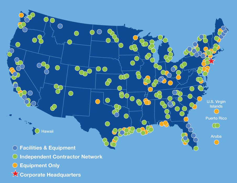 Global Operations National Response Corporation - Aruba and us map