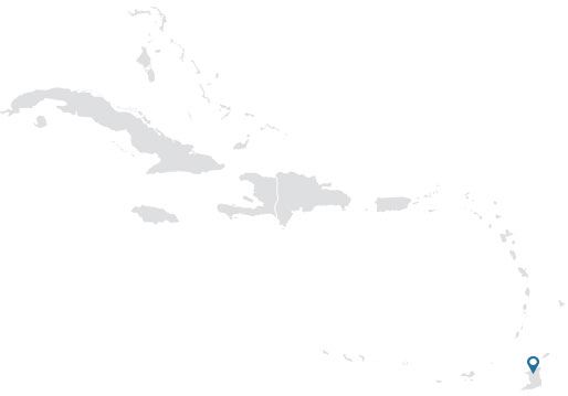 Silhouette map of the Caribbean