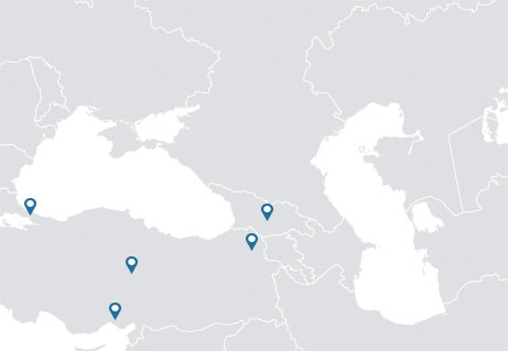 Caspian and Black Sea NRC locations